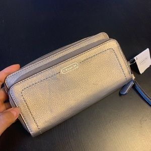 Tags on Coach Wallet w/ check book cover